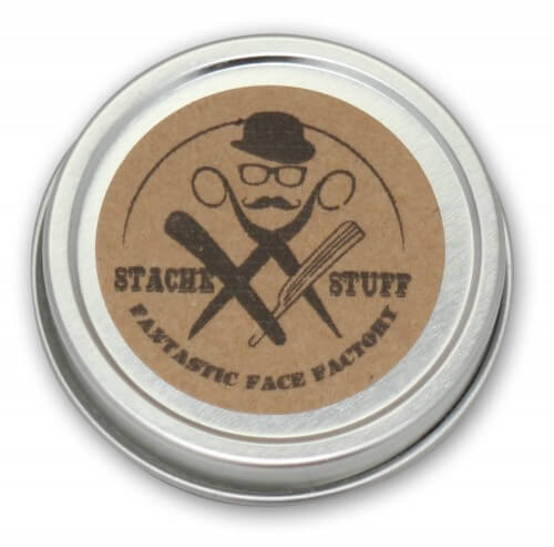 Moustache Wax, Mustache Wax picture, all natural, top of tin