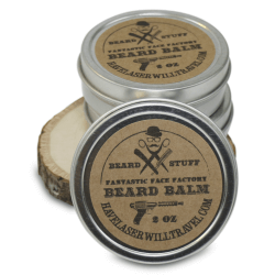 Pciture of a tin of Beard Balm, Hipster Grooming product